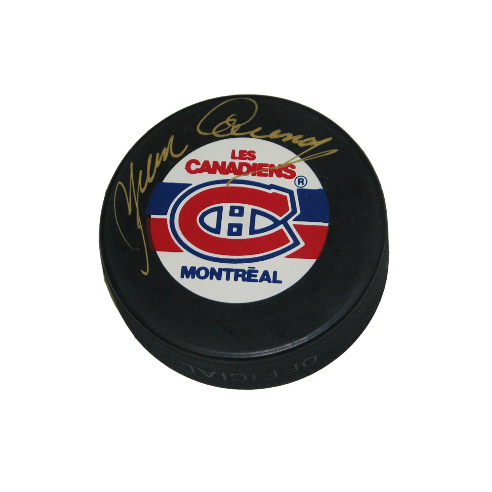 YVAN COURNOYER Signed Montreal Canadiens Puck