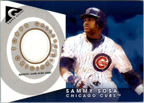 Photo of 2005 Topps Gallery Originals Relics #SS Sammy Sosa Jsy
