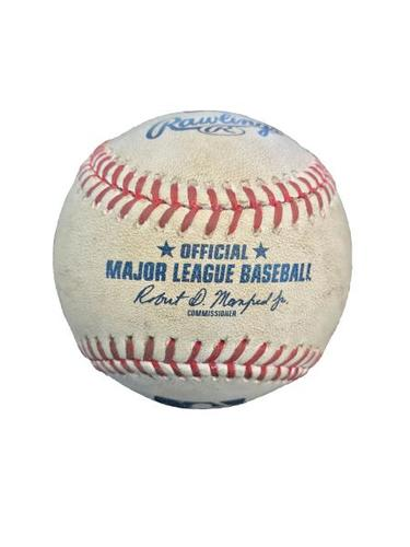 Photo of Game-Used Baseball from Pirates vs. Mets on 5/26/17 - Kuhl to Conforto, Foul