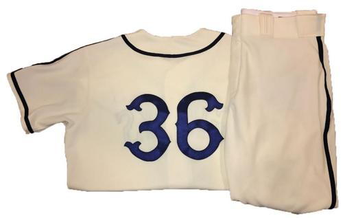 Photo of Jose Osuna Game-Used Homestead Greys Jersey and Pants