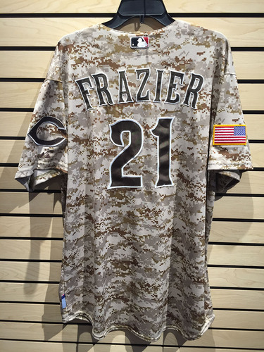 Photo of Todd Frazier Game-Used Camo Jersey JB098949