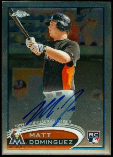 Photo of 2012 Topps Chrome Rookie Autographs #159 Matt Dominguez