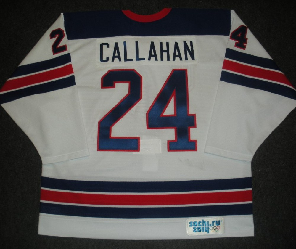 Ryan Callahan - Sochi 2014 - Winter Olympic Games - Team USA Throwback Game-Worn Jersey - Worn in Warmups and 1st Period vs. Slovenia, 2/16/14