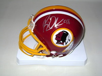 REDSKINS - BRIAN ORAKPO SIGNED REDSKINS MINI HELMET