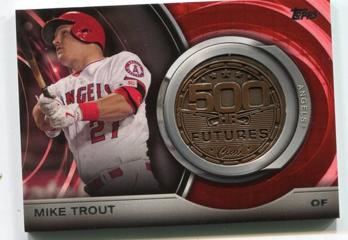 Photo of 2016 Topps Update 500 HR Futures Club Medallions #500M5 Mike Trout