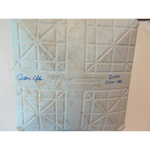 Photo of Autographed Game-Used Base: Justin Upton 204th Career Home Run