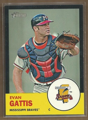Photo of 2012 Topps Heritage Minors Black #99 Evan Gattis