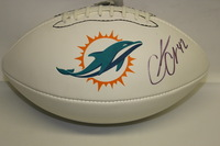 DOLPHINS - CHARLES CLAY SIGNED PANEL BALL W/ DOLPHINS LOGO