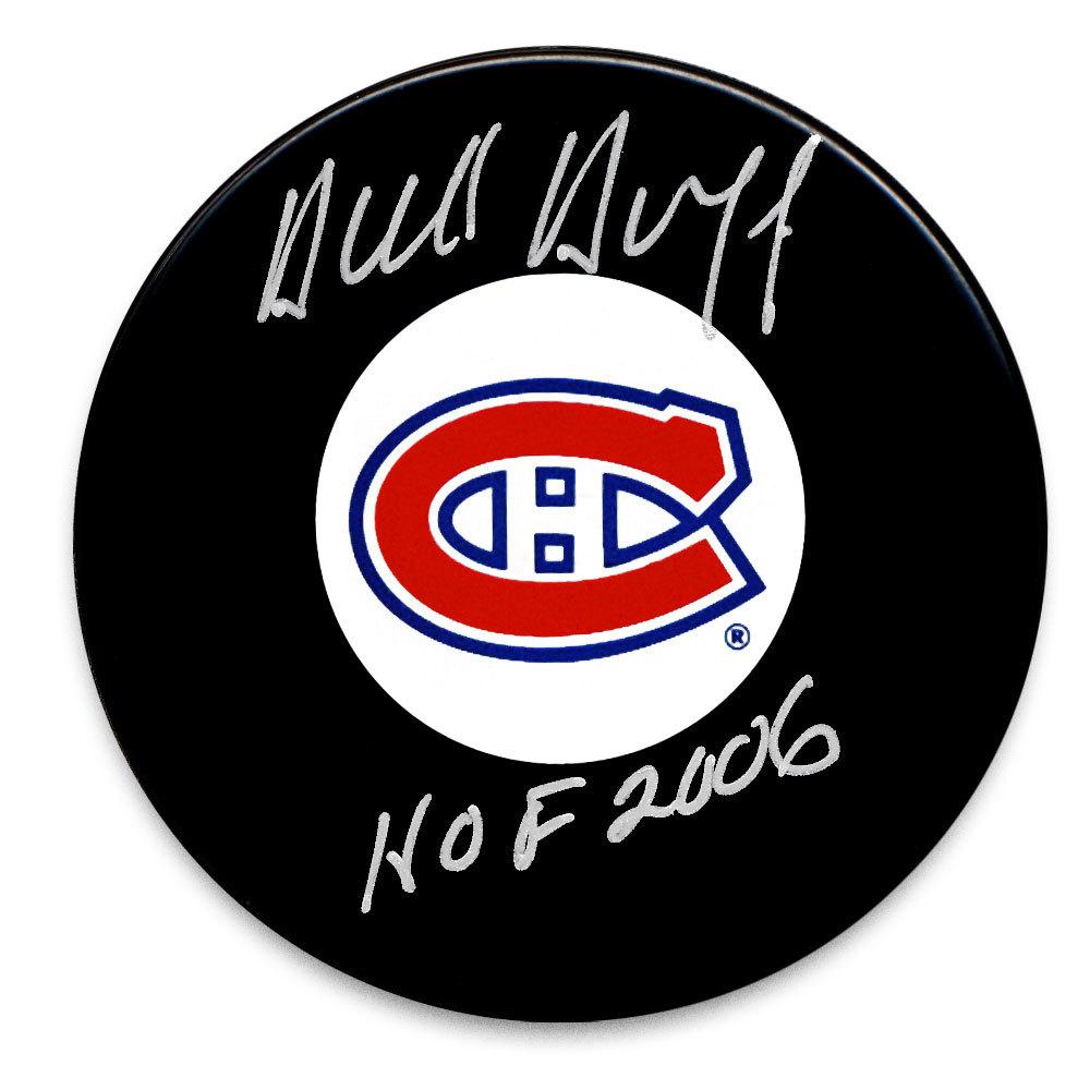 Dick Duff Montreal Canadiens HOF Autographed Puck