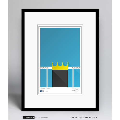 Photo of Minimalist Kauffman Stadium Field Collectors Edition Framed Print (Limited Edition #10/350)