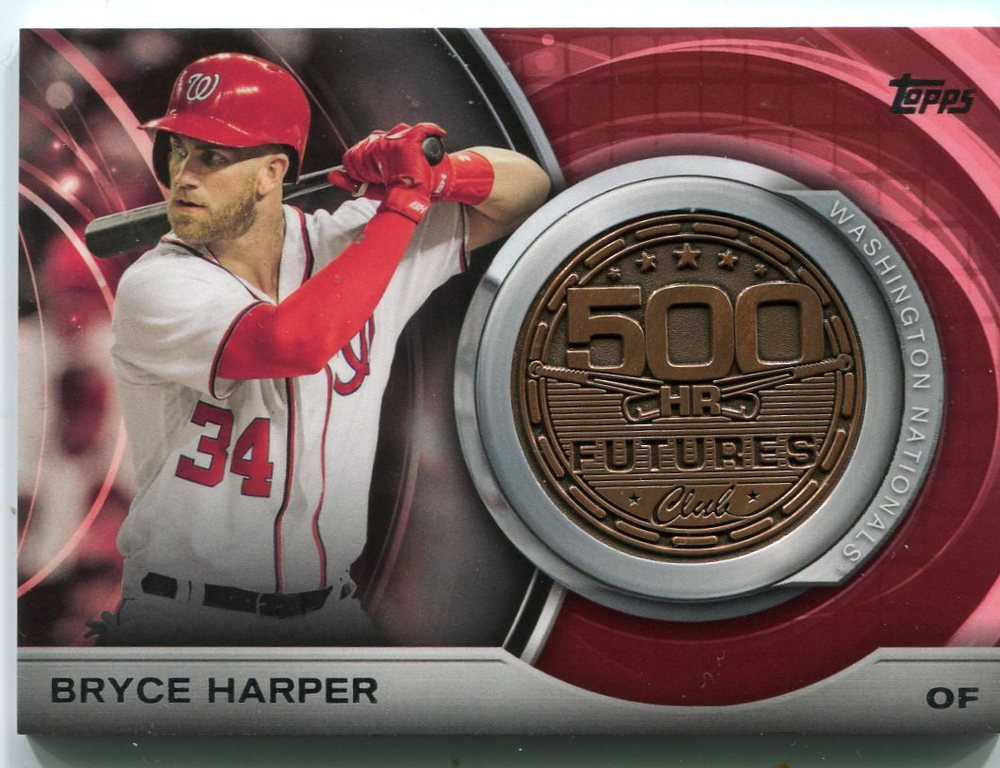2016 Topps Update 500 HR Futures Club Medallions #500M6 Bryce Harper