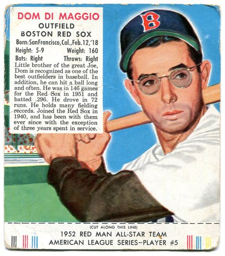Photo of 1952 Red Man #AL5 Dom DiMaggio With Tab