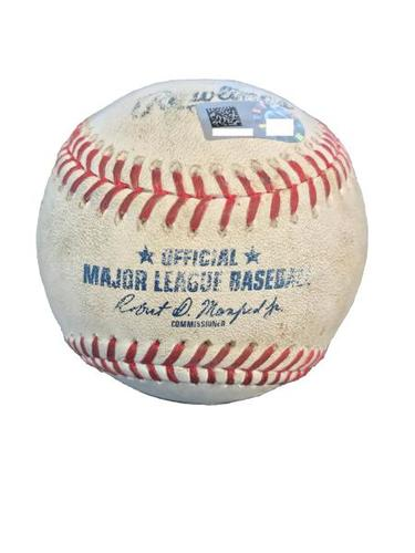 Photo of Game-Used Baseball from Pirates vs. Diamondbacks on 5/30/17 - Ray vs. Bell - Robbie Ray's 1st Career Complete Game Shutout