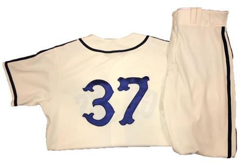 Photo of Edgar Santana Game-Used Homestead Greys Jersey and Pants