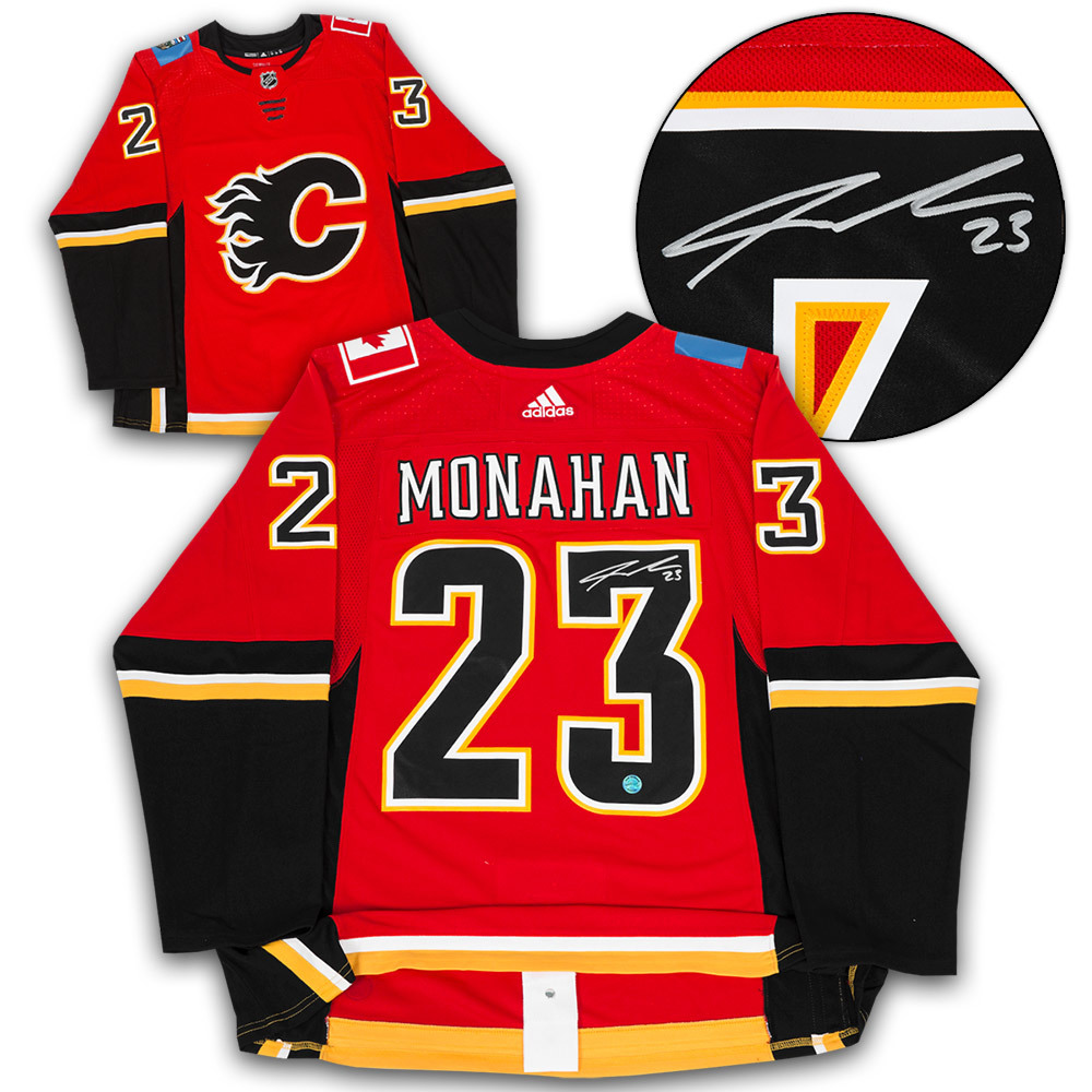 Sean Monahan Calgary Flames Autographed Adidas Authentic Hockey Jersey