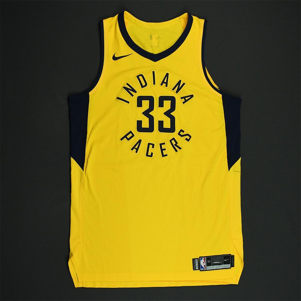 Myles Turner - Indiana Pacers - 2018 NBA Playoffs Game-Worn Statement Jersey - Worn in 6 Games