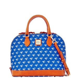 Allover Print Zip Satchel by Dooney & Bourke