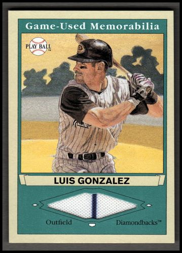 Photo of 2003 Upper Deck Play Ball Game Used Memorabilia Tier 1 #LG1 Luis Gonzalez Jsy