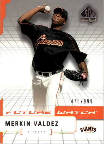 Photo of 2004 SP Authentic #99 Merkin Valdez FW RC