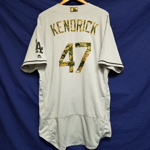 Photo of Howard Kendrick 2016 Game-Used Road Memorial Day Jersey