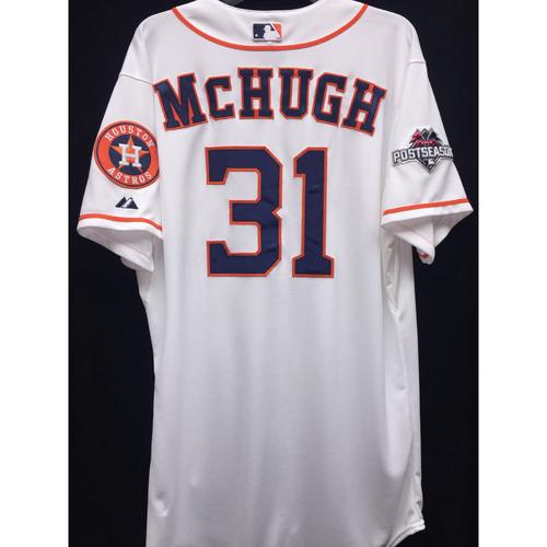 Photo of Team-Issued 2015 Collin McHugh Postseason Home White Jersey