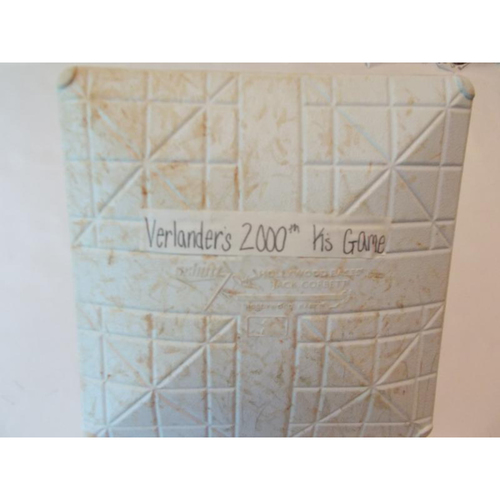Photo of Game-Used Base: Justin Verlander 2000th Strikeout Game