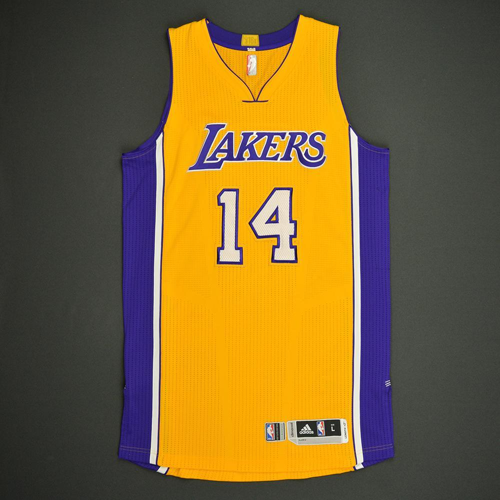 Brandon Ingram - Los Angeles Lakers - Game-Worn Rookie Debut Jersey - 2016-17 Season