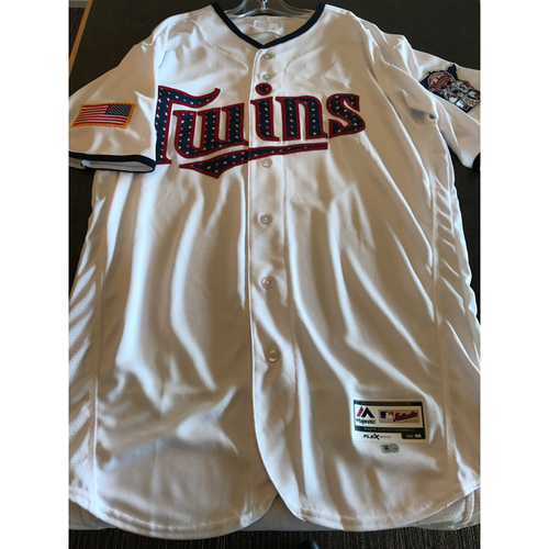 Photo of 2017 Team-Issued July 4th Home Jersey - Jose Berrios  - Size 46