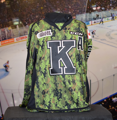 #26 Ted Nichol Autographed Game Issued (Worn) Kingston Frontenacs Camo Jersey