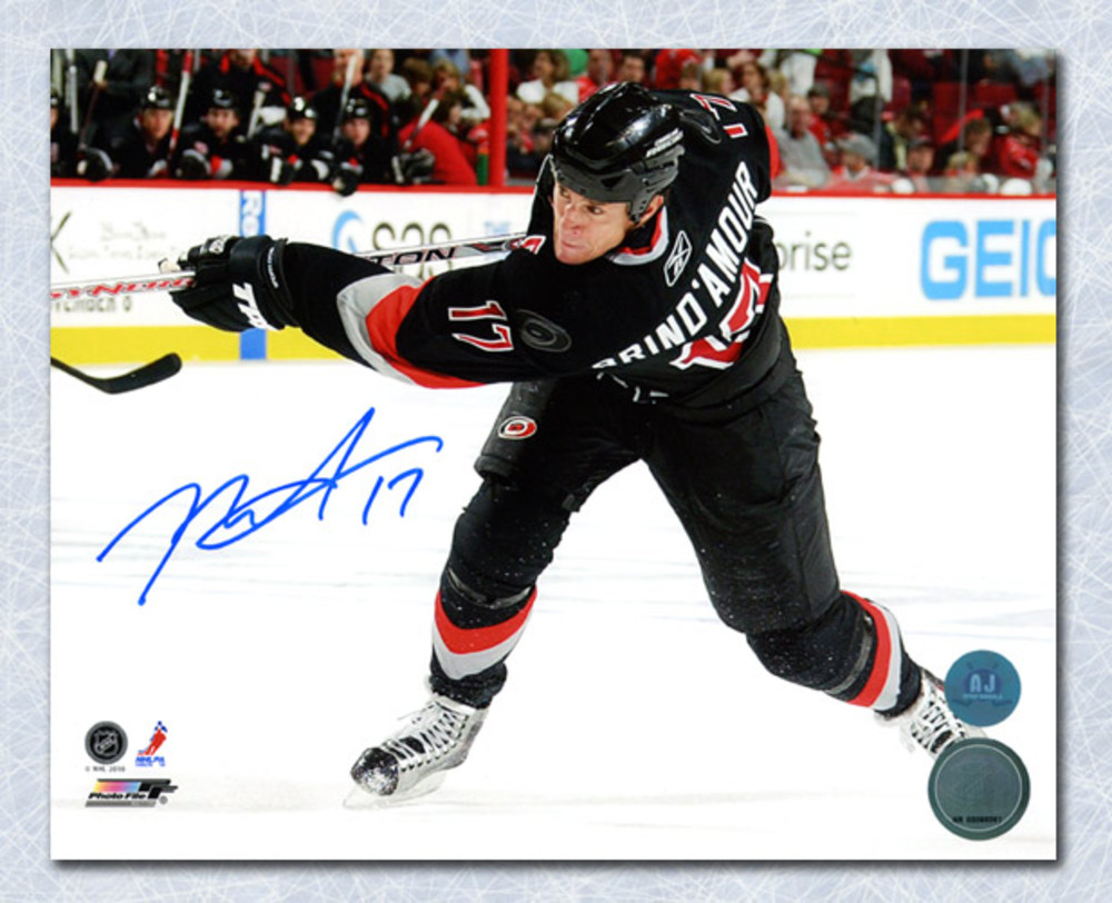 Rod Brind'Amour Carolina Hurricanes Autographed Shooting 8x10 Photo