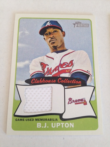 Photo of 2014 Topps Heritage Clubhouse Collection Relics #CCRBU B.J. Upton