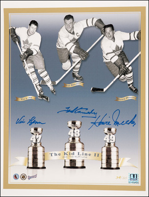 KLM LINE Maple Leafs Multi SIGNED 11x14 Photo *MEEKER, LYNN, KENNEDY*