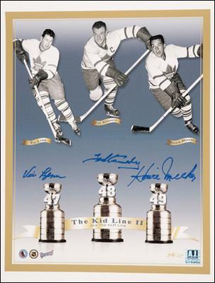 KLM LINE Maple Leafs Multi SIGNED 11x14 Photo *MEEKER, LYNN, KENNEDY*