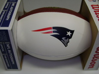 PATRIOTS - DOMINIQUE EASLEY SIGNED PANEL BALL
