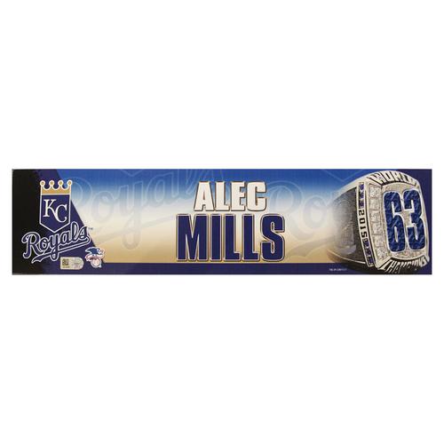 Photo of Alec Mills 2016 Locker Nameplate