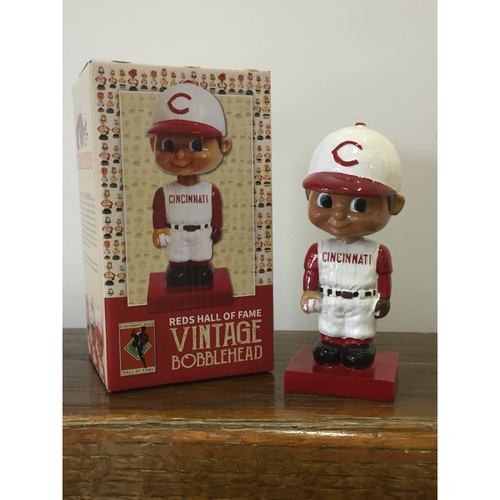 Photo of Reds Hall of Fame Vintage Bobblehead - Includes Two HOF Admission Tickets with Every Bobble and Randomly Inserted  Gifts Including Reds Hall of Fame Ultimate Tickets!