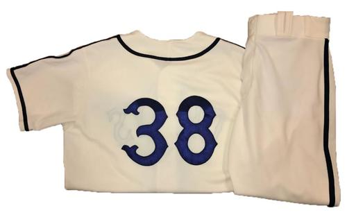 Photo of Wade LeBlanc Game-Used Homestead Greys Jersey and Pants