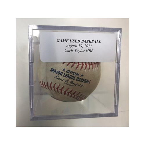 Photo of Game-Used Baseball: Chris Taylor Hit by Pitch