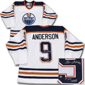 Glenn Anderson Autographed Edmonton Oilers Jersey w/HOF 2008 Inscription