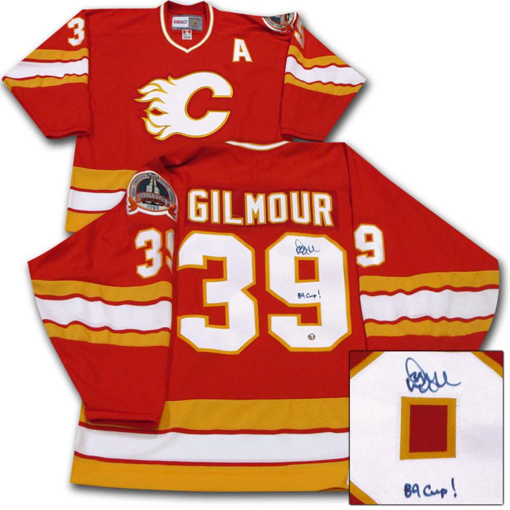 Doug Gilmour Autographed Calgary Flames Jersey w/89 CUP! Inscription