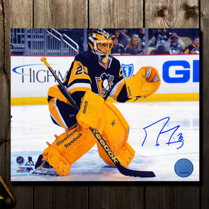 Marc Andre Fleury Pittsburgh Penguins BEE STING Autographed 8x10