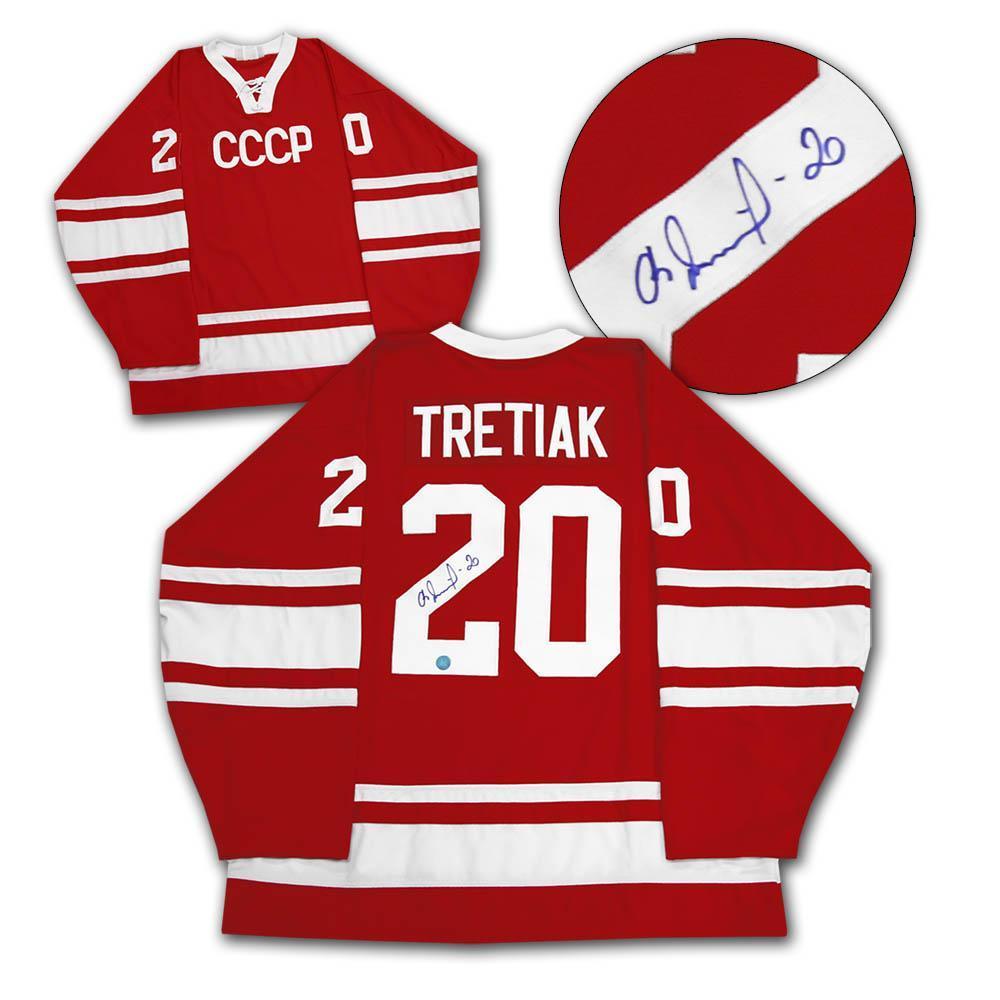 Vladislav Tretiak CCCP-Russia Autographed 1972 Summit Series Hockey Jersey