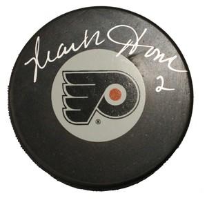 Mark Howe Autographed Philadelphia Flyers Puck