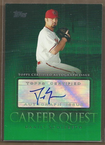 Photo of 2009 Topps Update Career Quest Autographs #DS Daniel Schlereth