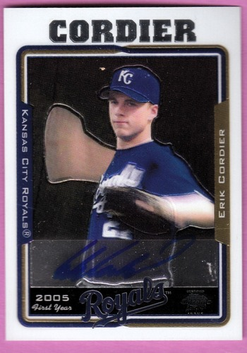 Photo of 2005 Topps Chrome #240 Erik Cordier FY AU RC