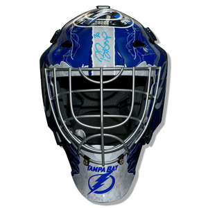 Ben Bishop Tampa Bay Lightning Autographed Full Size Mask