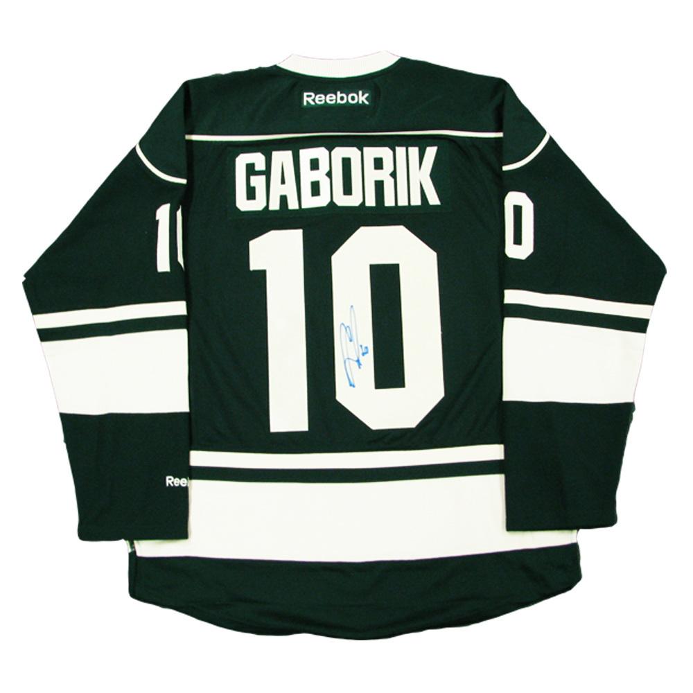 MARIAN GABORIK Signed Minnesota Wild Green Reebok Jersey