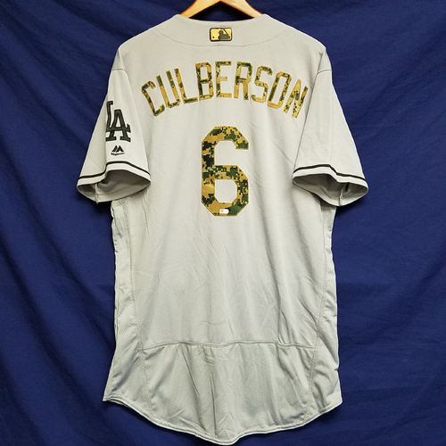 Photo of Charlie Culberson 2016 Team-Issued Road Memorial Day Jersey