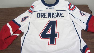 AHL WHITE GAME ISSUED DAVIS DREWISKE JERSEY SIGNED (1 OF 2)