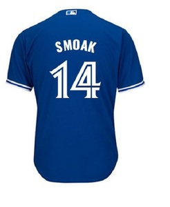 Toronto Blue Jays Cool Base Replica Justin Smoak Alternate Jersey by Majestic
